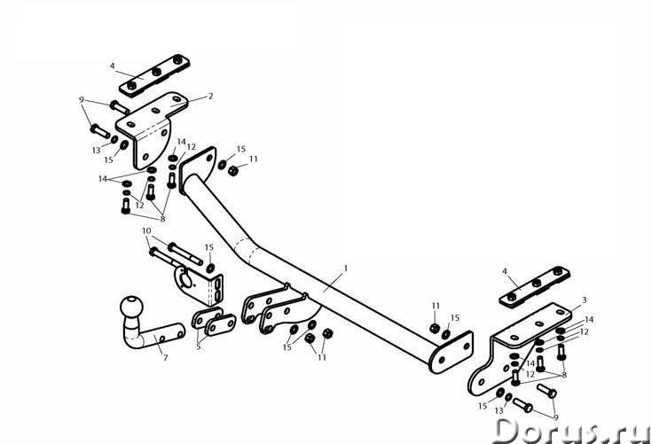 Фаркоп на Nissan Juke, с 2011 г.в - Запчасти и аксессуары - Фаркоп (тягово-сцепное устройство) на Ni..., фото 1